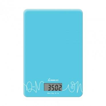 Momert 6860 Digitális Üveglapos Konyhamérleg Kék