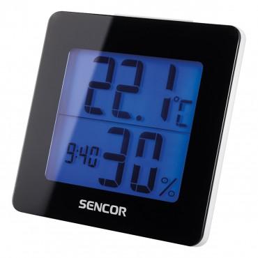Sencor SWS 1500 B Hőmérő Ébresztőórával Fekete