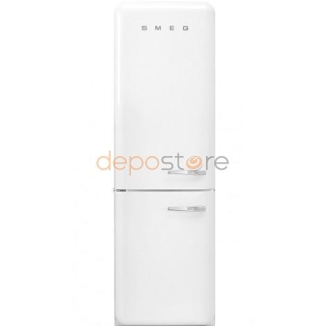 """Smeg FAB32LWH3 fehér szabadonálló alulfagyasztós kombinált retro hűtőszekrény, 304 L, A++ """"OUTLET"""""""