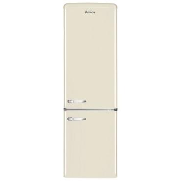 AMICA KGCR387100B A++ Alulfagyasztós Retro hűtőszekrény 181 cm Krém