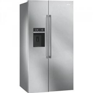Smeg SBS63XED amerikai típusú hűtőszekrény, Inoxszínben