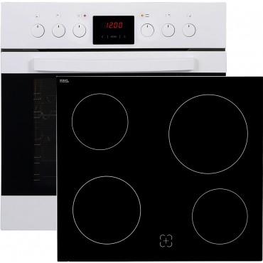 Amica EHC12557W beépíthető sütő-kerámialap szett fehér Outlet