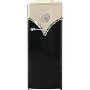 Gorenje OBRB153BK A+++ VW design Egyajtós, Retró hűtőszekrény, Jobbos 154 cm