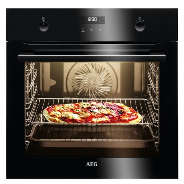AEG BPE435060B Veépíthető Öntisztító (Pyrolise) sütő fekete üveg előlappal