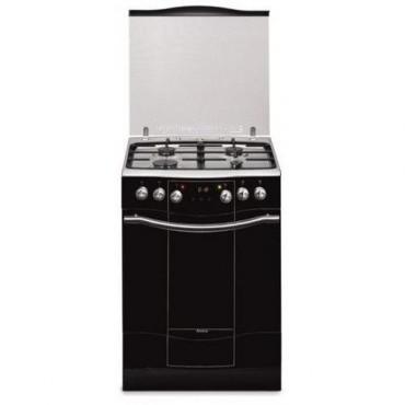 Amica 55702 Kombinált tűzhely 60 cm széles, fekete üveg előlap