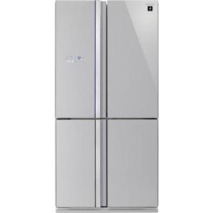 Sharp SJ-FS820VSL Szabadonálló 4 ajtós Side-by-Side Hűtőszekrény A++ 183cm 393L+207L NoFrost Inox