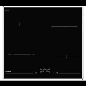 Sharp KH6V08FT00EU beépíthetõ üvegkerámia fõzõlap, fekete