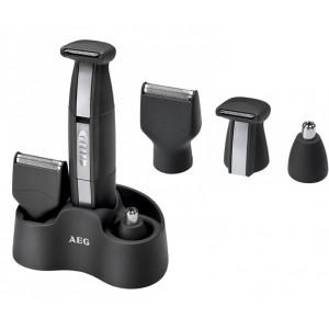 AEG PT 5675 3 az 1-ben borotva, borotválkozáshoz, orr és fülszőr nyíráshoz, Fekete/Ezüst