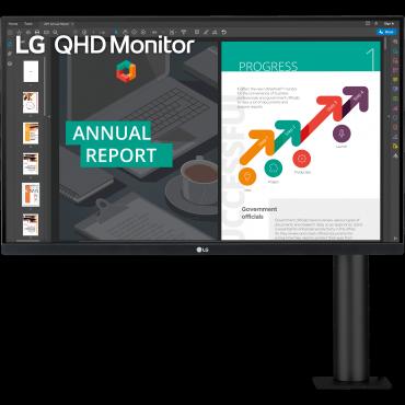 LG 27QN880 27'' méretű QHD IPS monitor HDR10-zel és AMD FreeSync™ technológiával