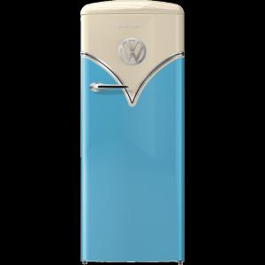 Gorenje OBRB153BL A+++ VW Design Egyajtós, Retró hűtőszekrény, Jobbos 154 cm