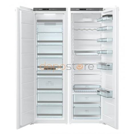 Gorenje RI5182 hűtő + FNI5182A1 fagyasztó; Beépíthető Side by Side, külön-külön, 305 liter + 235 liter