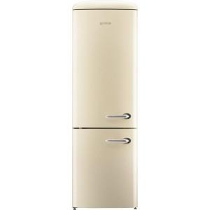 Gorenje ONRK193C-L alul fagyasztós retró hűtőszekrény, krém színű, A+++, No Frost