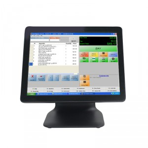 """LCD E1508A; 1024x768, 400:1, 350cd/m2, VGA, USB, black;15"""" Multi-point capacitive touch for terminal"""