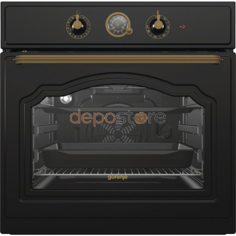 Gorenje BO7732CLB beépíthető sütő rusztikus, matt fekete
