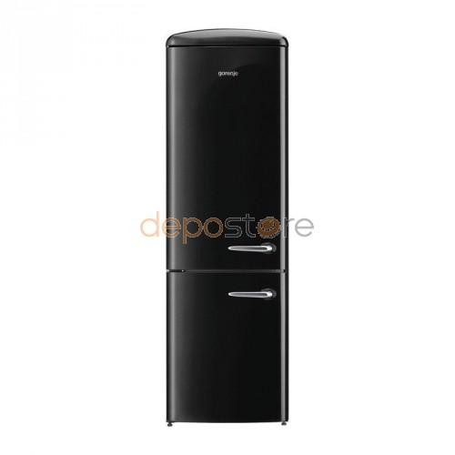 Gorenje ONRK193BK-L Retro alulfagyasztós hűtőszekrény, A+++ , No Frost, 194 cm