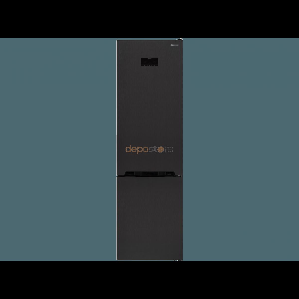 Sharp SJ-BA20IHXA3 alulfagyasztós hűtőszekrény, No-Frost, A+++, 182 kWh / év, (Hűtők)