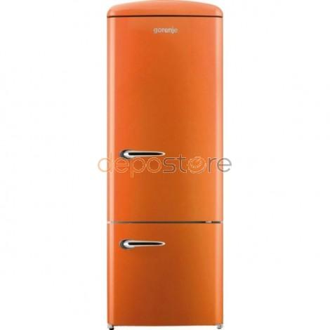 Gorenje RK60319OO A++ kombinált, alul fagyasztós hűtőszekrény, narancssárga színben