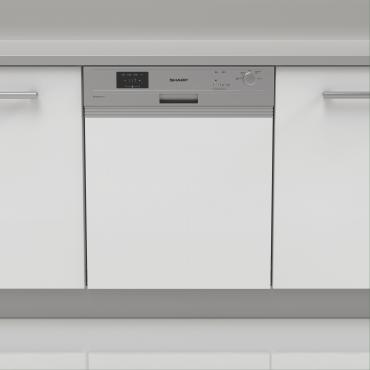 Sharp QW-GX13S472S Beépíthető mosogatógép, A++, 60 cm, 13 teríték