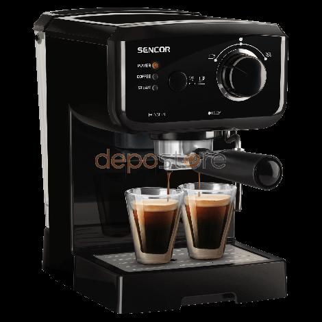 Sencor SES 1710BK espresso kávéfőző, gőzcsappal