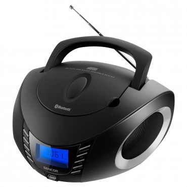 Sencor SPT 3600 BS FM Rádió CD/BT/MP3/USB/AUX Fekete