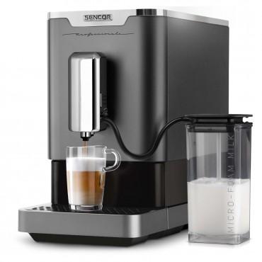 Sencor SES9200CH automata kávéfőző, 1470W, 19 bar, 1.1L víztartály, fekete/ezüst
