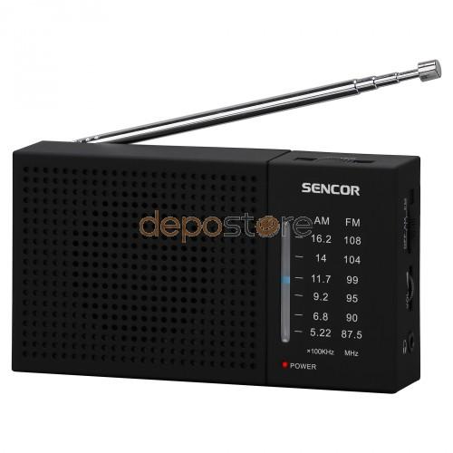 Sencor SRD 1800 FM/AM Zsebrádió Fekete